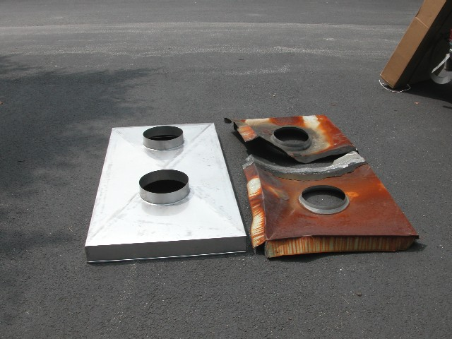 Rusty Galvanized Chimney Chase Covers
